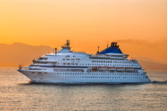 Cruise ship in Aegean Sea, Greece Stock Photo
