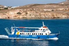 Cruise ship in Aegean Sea, Greece stock photos