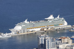 Cruise ship aerial view Stock Image