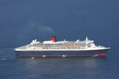 Cruise ship aerial view Stock Photography