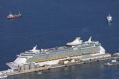 Cruise ship aerial view Stock Photo