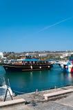 Cruise ship in Agia-Napa harbor Royalty Free Stock Photography