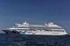 Cruise Ship Aida Cara. The cruise ship AIDA cara lying in the roads at Visby, Goltand, Sweden Royalty Free Stock Photography