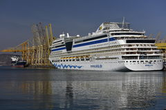 Cruise Ship AIDA Stella in the Harbour of Khor Fakkan, United Arab Emirates Stock Image
