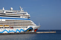 Cruise Ship AIDAblu Stock Photo
