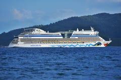 Cruise ship AIDAdiva in Marmaris bay, Turkey Stock Images
