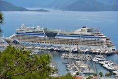 Cruise ship AIDAdiva in Marmaris, Turkey Stock Image