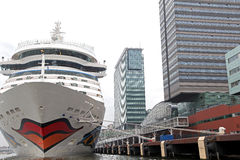 Cruise ship AIDAsol in the Amsterdam port, Netherlands Royalty Free Stock Photos
