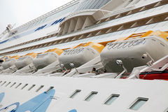 Cruise ship AIDAsol in the Amsterdam port, Netherlands Royalty Free Stock Photography