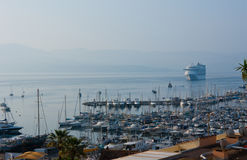 Cruise ship in Ajaccio port Royalty Free Stock Images