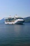 Cruise ship, Alaska. Cruise ship anchored off Hoonah village, Southeast Alaska Royalty Free Stock Image