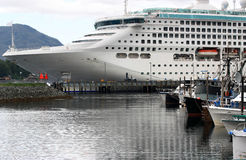Cruise Ship in Alaska Stock Photography