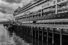 Cruise Ship in Alaska Royalty Free Stock Photography