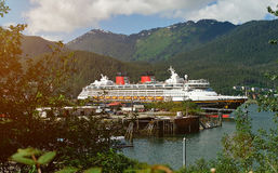 Cruise ship in Alaska port Royalty Free Stock Photo