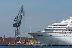 Cruise ship Amadea is sailing at the Noordzeekanaal. Royalty Free Stock Photos
