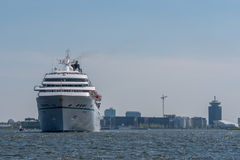 Cruise ship Amadea is sailing at the Noordzeekanaal. Royalty Free Stock Image