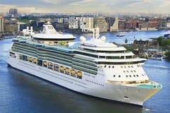 Cruise Ship in Amsterdam Stock Photo