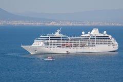 Cruise Ship at Anchor Royalty Free Stock Photo