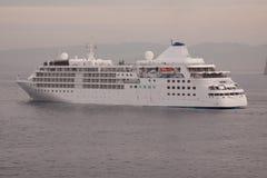 Cruise Ship at Anchor Royalty Free Stock Image