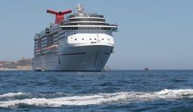 Cruise Ship at Anchor Royalty Free Stock Photos