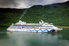 Cruise Ship at anchor Stock Photography