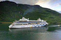 Cruise Ship at anchor Stock Image