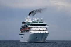 Cruise Ship Anchored in the Bahamas Stock Photos