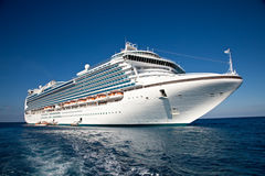 Cruise Ship Anchored in The Caribbean Royalty Free Stock Images