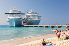 Cruise Ship Anchored In Grand Turk Stock Photography