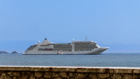 Cruise ship anchored Stock Photography