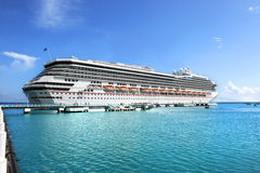 Cruise Ship Anchored at Port royalty free stock images