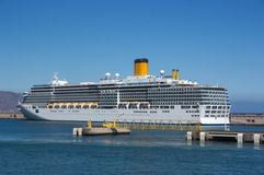 A cruise ship anchored Royalty Free Stock Images