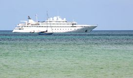 Cruise Ship in the Andaman Sea Royalty Free Stock Photography