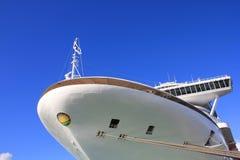 Cruise ship in Antigua. SAINT JOHN`S, ANTIGUA - FEBRUARY 19, 2014: Crown Princess cruise ship anchored in St John`s, Antigua and Barbuda. Antigua is a popular Royalty Free Stock Photo