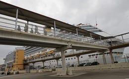 Cruise ship area mooring deck stock photos