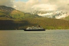A cruise ship arriving at seward Royalty Free Stock Photo