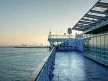 Cruise ship arriving to Livorno harbour Stock Images