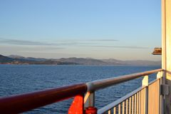 Cruise ship arriving to Olbia Royalty Free Stock Photo