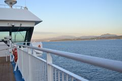 Cruise ship arriving to Olbia Stock Image