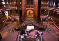 Cruise Ship Atrium Stock Images