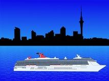 Cruise ship in Auckland Stock Photos