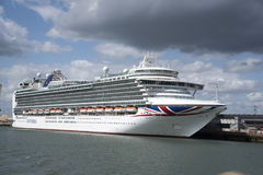 Azura ship in the Port of Southampton UK Royalty Free Stock Images