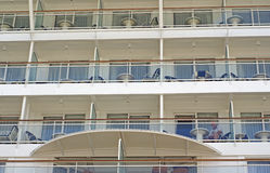 Cruise ship balconies Royalty Free Stock Photos