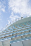 Cruise Ship Balconies Into Sky Stock Photos