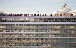Cruise ship balconies Royalty Free Stock Photography