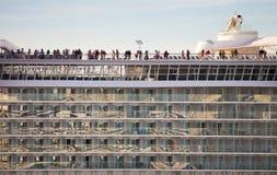 Cruise ship balconies Royalty Free Stock Photography