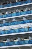 Cruise ship balcony royalty free stock images
