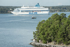 Cruise ship in Baltic sea Royalty Free Stock Image