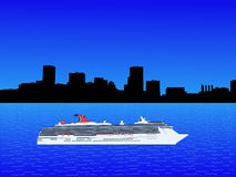 Cruise ship in Baltimore Stock Photo