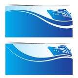 Cruise ship banners Royalty Free Stock Images